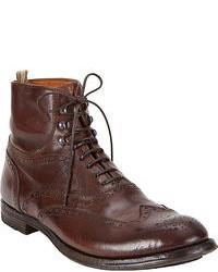 темно коричневые ботинки броги original 6703369