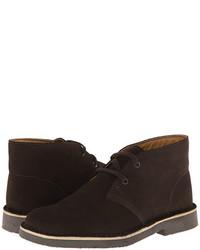 Темно-коричневые ботинки дезерты