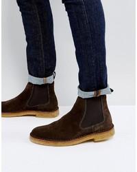 Темно-коричневые ботинки дезерты от Paul Smith