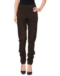 Темно-коричневые брюки-галифе