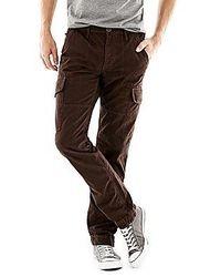 Темно-коричневые брюки карго
