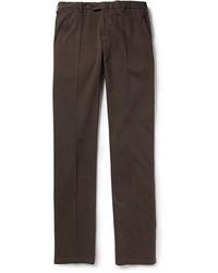 Темно-коричневые брюки чинос