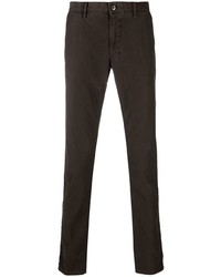 Темно-коричневые брюки чинос от Incotex