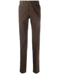 Темно-коричневые брюки чинос от Pt01