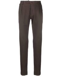 Темно-коричневые брюки чинос от Tagliatore