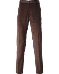 Мужские темно-коричневые вельветовые джинсы от Etro