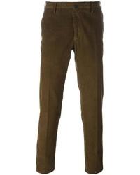Мужские темно-коричневые вельветовые джинсы от Incotex