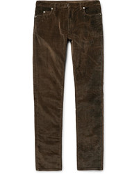 Мужские темно-коричневые вельветовые джинсы от Maison Margiela