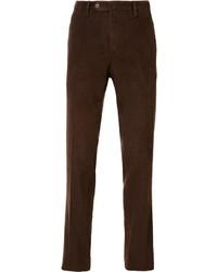 Мужские темно-коричневые вельветовые джинсы от Pt01