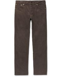 Мужские темно-коричневые вельветовые джинсы от VISVIM