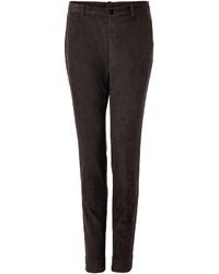Темно-коричневые вельветовые классические брюки