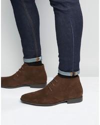 Темно-коричневые замшевые ботинки дезерты от ASOS DESIGN