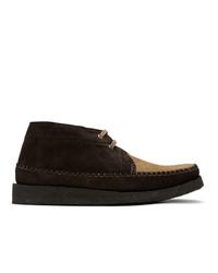 Темно-коричневые замшевые ботинки дезерты от Comme des Garcons Homme Deux