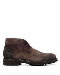 Темно-коричневые замшевые ботинки дезерты от Doucal's