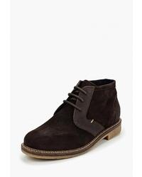Темно-коричневые замшевые ботинки дезерты от El Tempo