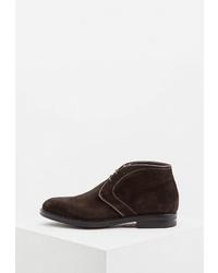 Темно-коричневые замшевые ботинки дезерты от Guardiani