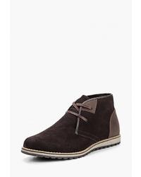 Темно-коричневые замшевые ботинки дезерты от Happy Family