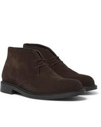 Темно-коричневые замшевые ботинки дезерты от J.M. Weston