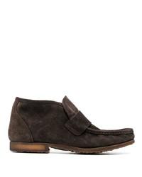 Темно-коричневые замшевые ботинки дезерты от Premiata