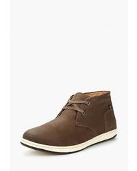 Темно-коричневые замшевые ботинки дезерты от Reflex
