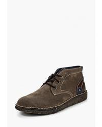 Темно-коричневые замшевые ботинки дезерты от Road 3