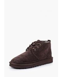 Темно-коричневые замшевые ботинки дезерты от Valley
