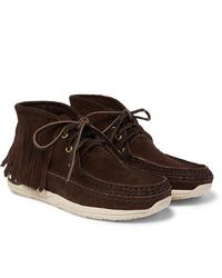 Темно-коричневые замшевые ботинки дезерты от VISVIM
