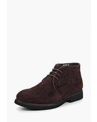 Темно-коричневые замшевые ботинки дезерты от Vitacci