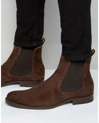 Мужские темно-коричневые замшевые ботинки челси от Aldo