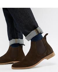 Мужские темно-коричневые замшевые ботинки челси от ASOS DESIGN