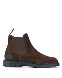 Мужские темно-коричневые замшевые ботинки челси от Car Shoe