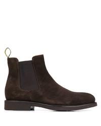 Мужские темно-коричневые замшевые ботинки челси от Doucal's