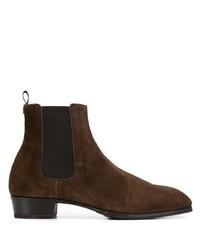 Мужские темно-коричневые замшевые ботинки челси от Lidfort