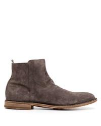 Мужские темно-коричневые замшевые ботинки челси от Officine Creative