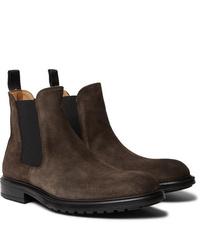 Мужские темно-коричневые замшевые ботинки челси от Officine Generale
