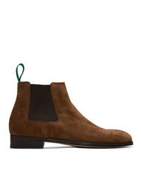 Мужские темно-коричневые замшевые ботинки челси от Paul Smith