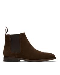Мужские темно-коричневые замшевые ботинки челси от Ps By Paul Smith