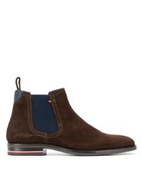 Мужские темно-коричневые замшевые ботинки челси от Tommy Hilfiger
