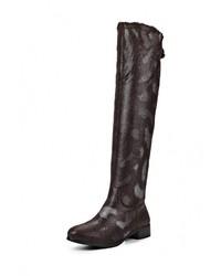 Женские темно-коричневые замшевые ботфорты от Vivian Royal