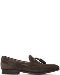 Темно-коричневые замшевые лоферы с кисточками от H By Hudson
