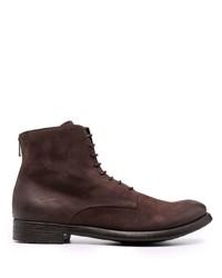 Мужские темно-коричневые замшевые повседневные ботинки от Officine Creative