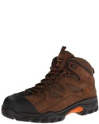 Темно-коричневые замшевые рабочие ботинки