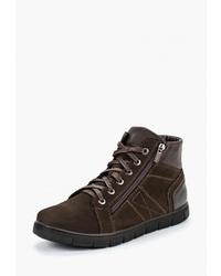 Мужские темно-коричневые замшевые рабочие ботинки от Московская меховая компания