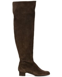 Темно-коричневые замшевые сапоги от P.A.R.O.S.H.