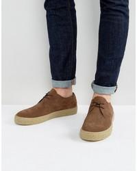 Мужские темно-коричневые замшевые туфли дерби от Asos