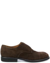 Мужские темно-коричневые замшевые туфли дерби от Premiata