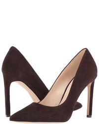 Темно-коричневые замшевые туфли