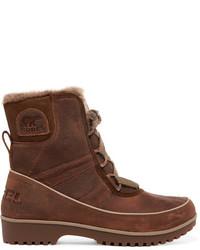 Темно-коричневые зимние ботинки