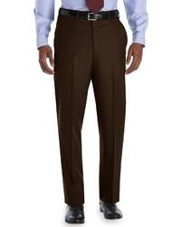 Темно-коричневые классические брюки