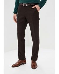 Мужские темно-коричневые классические брюки от Bazioni